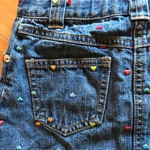 Gymboree Bottoms - Denim Skirt with embroidered hearts!!
